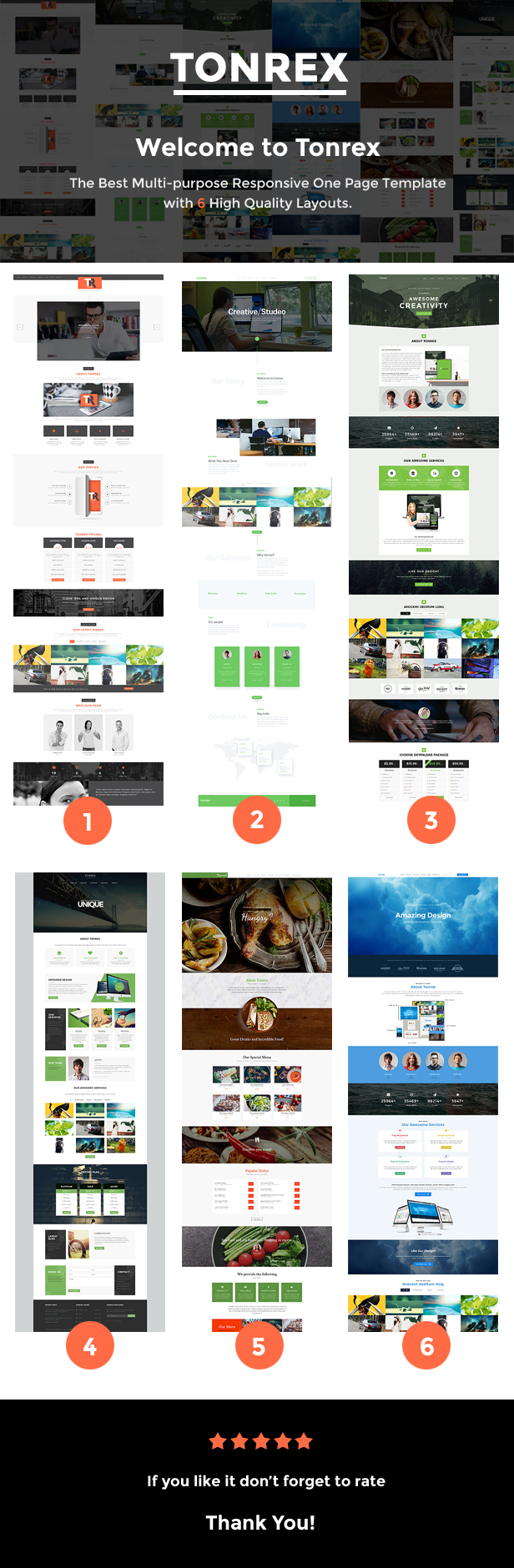 Tonrex onepage responsive template
